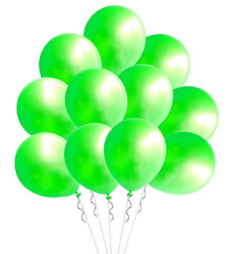 Elecrainbow 100 Pack 12 Inch 3.2 g/pc Thicken Round Pearlescent Latex Dark Green Balloons for Party Decorations, Dark Green