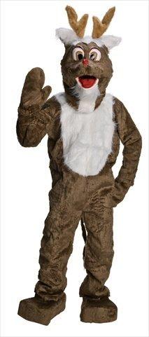 [Rubie's Costume Co. Men's Reindeer Mascot Costume, As Shown, One Size] (Deluxe Reindeer Mascot Costumes)