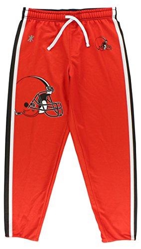 Klew Womens Cleveland Browns Jogger Pants Orange S