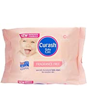 Curash Fragrance Free Baby Wipes Travel 20 PK
