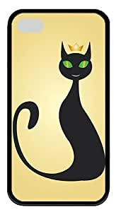 IMARTCASE iPhone 4S Case, Black Cats Queen Vector Durable Case Cover for Apple iPhone 4S/5 TPU Black