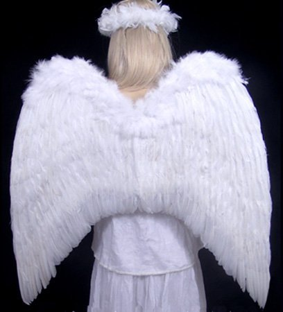 FashionWings (TM Archangel XL White Costume Feather Wings & Halo Adults Unisex by FashionWings (Image #6)