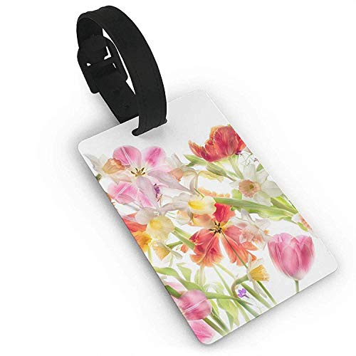 - NOAID Bouquet with Swirled Branches Romantic Paper Flowers Luggage Bag Tags Travel ID Identification Labels Set Travel Luggage Tag ID Identification Labels
