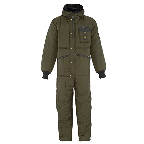 RefrigiWear Men's Iron-Tuff Insulated Coveralls with Hood -50F Extreme Cold Suit (Sage Green, Medium)