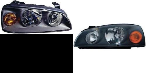Go-Parts PAIR/SET OE Replacement for 2004-2006 Hyundai Elantra Front Headlights Headlamps Assemblies Front Housing/Lens / Cover - Left & Right (Driver & Passenger) Side for Hyundai Elant ()