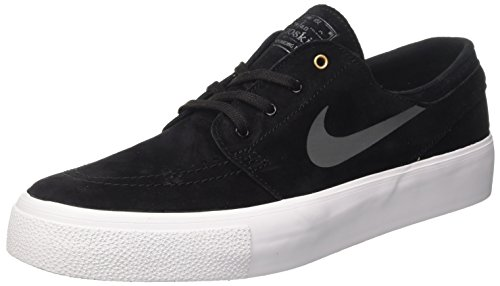 NIKE Mens SB Zoom Janoski HT Skate Shoe Black / Dark Grey-metallic Gold RJPcXH05