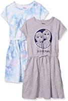 Amazon Brand - Spotted Zebra Girls Disney Star Wars Marvel Frozen Princess Knit Short-Sleeve Cinch-Waist Dresses