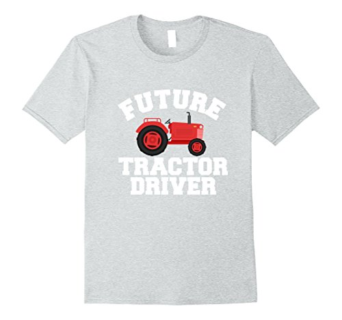 Truck Driver Costume Toddler (Mens Future Tractor Driver Farmer T-Shirt for Boys & Girls XL Heather Grey)
