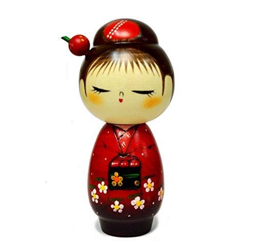 Japanese Sosaku Kokeshi Doll Hanadayori Made in Japan