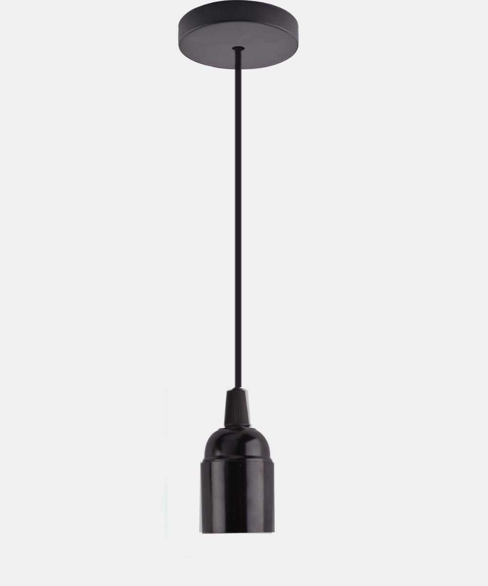 FRTEJ Edison Antique Pendant Lamp E27 Screw Bar Retro Lamp With Cable Hanging Line Lamp Holder, black without switch