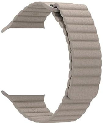 Apple 42MM Medium Leather Loop for Apple Watch - Stone