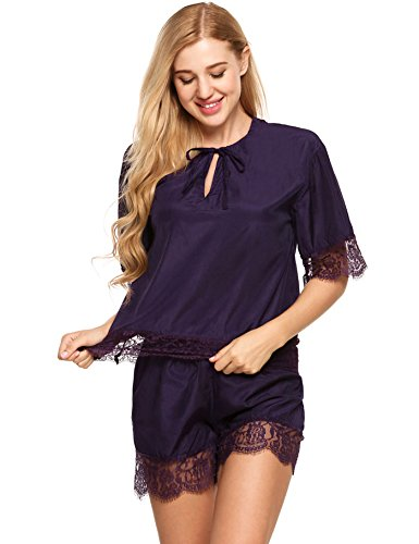 a745b9d095 WDDGPZSY Nightgown Pajamas Nightdress Sleepwear Homewear Sleep Shirt Lace  Patchwork