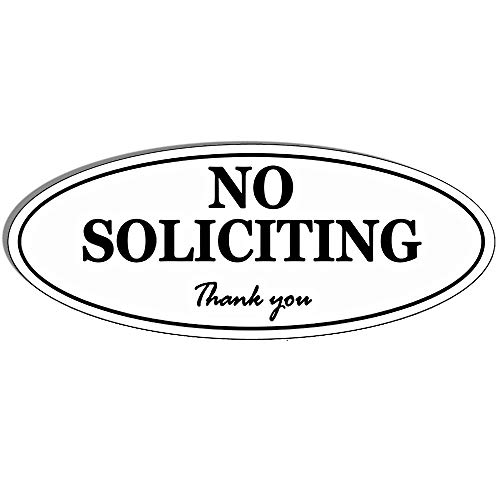 Oval No Soliciting Sign - Self Adhesive 2