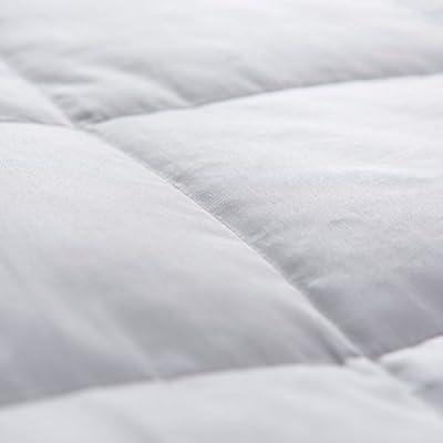 puredown White Down Blanket, Light Weight, Satin Weave