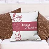 Our Wedding Day Personalized Throw Pillow