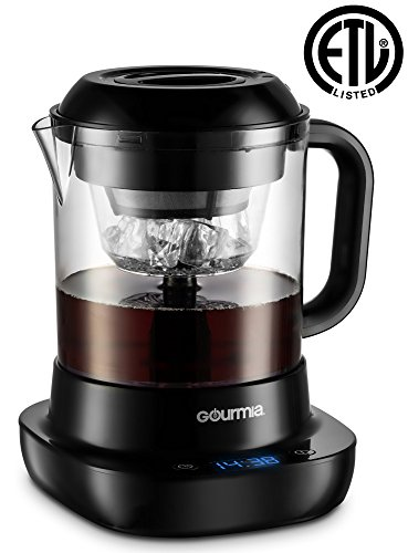 Gourmia GCM6800 Automatic Cold Brew Coffee Maker - 10 Minutes Fast Brew - Patented Ice Chill Cycle - One Touch Digital - 4 Strength Selector - 4 Cups - 5W - Black