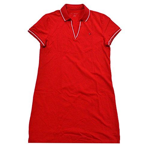 (Tommy Hilfiger Emma Polo Dress (Medium, Red))