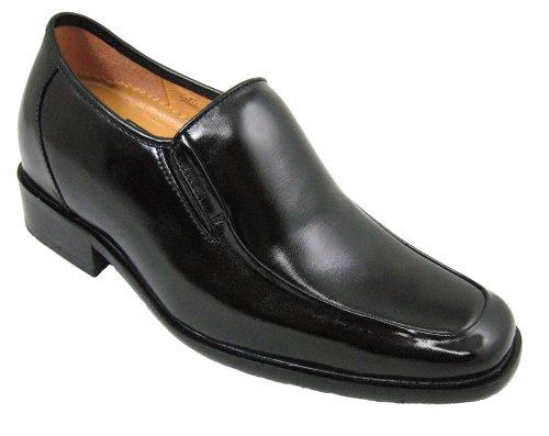 Calden K5652-3.2 Inches Groter - Hoogte Toenemende Lift Schoenen-zwarte Slip On