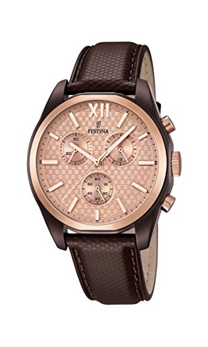 Festina men watch stainless steel and leather band 16863/1