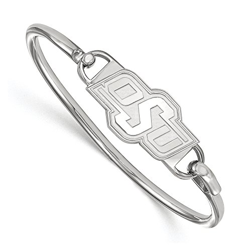 NCAA Sterling Silver Oklahoma State University Bangle, 6 inch by LogoArt