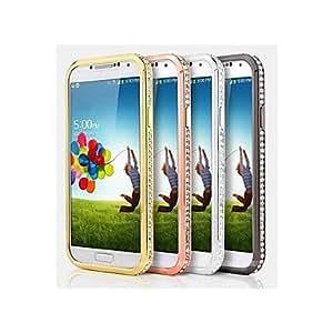 Mini - Diamond Look Metal Bumper Case for Samsung Galaxy S4 I9500 ,Color: Champagne