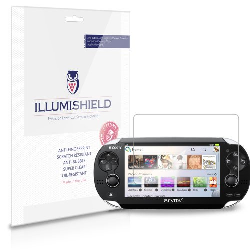 Illumishield   Sony Ps Vita Pch 2000 Screen Protector Japanese Ultra Clear Hd Film With Anti Bubble And Anti Fingerprint   High Quality  Invisible  Lcd Shield   Lifetime Replacement Warranty    3 Pack  Oem   Retail Packaging