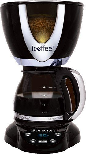 iCoffee RCB100 12 Cup Coffee Maker With Steam Brew Technology, Black