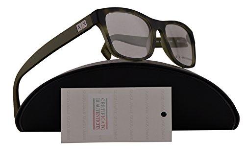 Armani Exchange AX3039 Eyeglasses 54-18-145 Matte Havana Grey w/Clear Demo Lens 8202 AX - Lens Clear Armani Glasses
