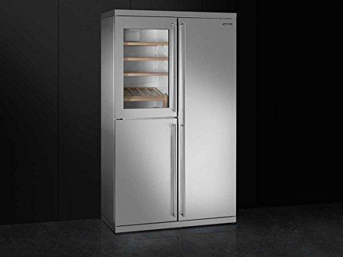 Amerikanischer Kühlschrank Preis : Smeg side by side wein kühl gefrier kombination edelstahl
