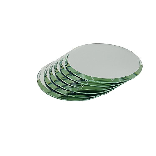 Set of 6 High Quality Beveled Round Mirrors For Your Crystal Figurines and Other Collectibles (2.5