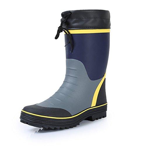 Quattro stagioni da indossare Stivali da pioggia Scarpe da uomo Scarpe da acqua Scarpe da pesca Tubo centrale impermeabile PVC antiscivolo Scarpe altezza cilindro 10 pollici ( Color : Black , Size : X Black