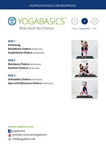 YOGABASICS: Reise Durch Die Chakren   6 Mal 60 Minuten Dynamisches  Jivamukti Yoga 3 DVDs Nicht Für Pure Anfänger Geeignet + Ebook + Online  Zugang: ...
