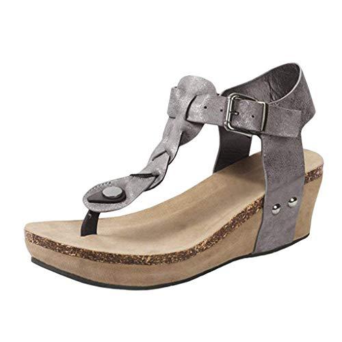retr Casuale Shoes Alto Shoes con Zeppa Eleganti Tacco Toe Tacco Moda Toe Minetom Donna Open Sandali Sexy Clip z4v4qOT