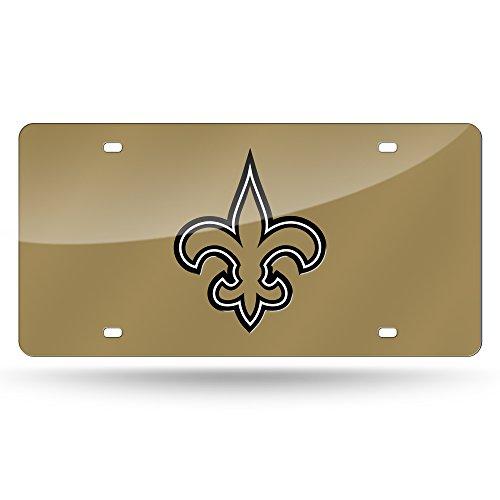 - NFL New Orleans Saints Laser Inlaid Metal License Plate Tag