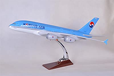 TANG DYNASTY(TM) 47cm Air Bus A380 Korean Airlines ABS Resin Model Plane Model Plane Toy