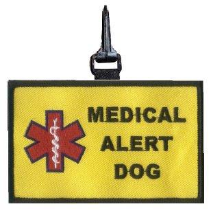 Medical Alert Dog Snap On Patch - Large ()