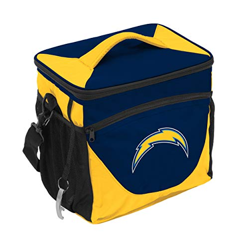 Logo Brands NFL San Diego Chargers 24 Can Cooler, One Size, Black ()