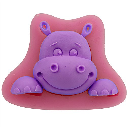 Let'S Diy Hippo Cartoon Shape Baking Mold Fondant Cake Tool Chocolate Candy Cookies Pastry Soap Moulds