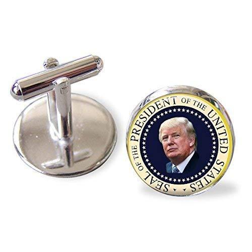 (President Donald Trump Stainless Steel Cufflinks - Handmade)