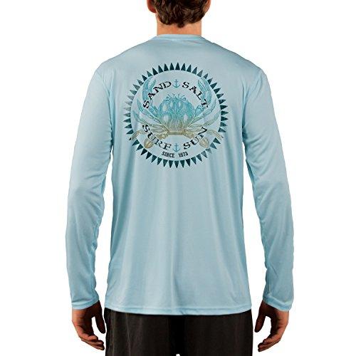 Vintage Crab Men's UPF 50+ Performance T-Shirt Large Arctic Blue ()