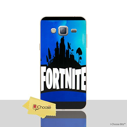 Galaxy J3 2016 Fortnite Silicone Phone Case/Gel Cover for Samsung Galaxy J 3 (J3/J320)/iCHOOSE/Silhouette - Blue