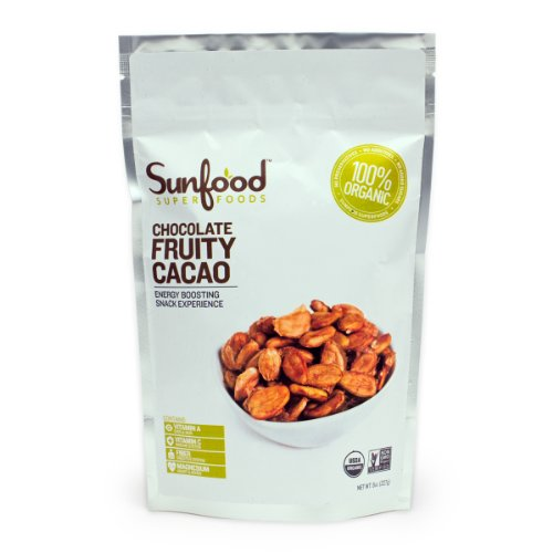 Sunfood Fruity Cacao Beans, Certified Organic, Vegan, Raw, 8oz