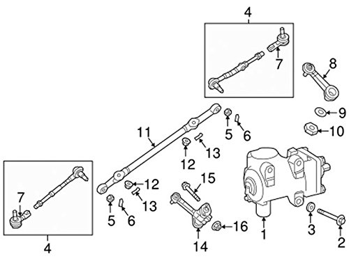 Nissan 48630 1pa0a Steering Tie Rod End Amazon Co Uk Car Motorbike