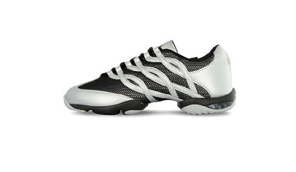 Zapatillas Sneakers de baile unisex con cámara de aire y suela partida- Twist Bloch S0522L, talla 10.5 (40.5 europeo), color plata: Amazon.es: Zapatos y ...