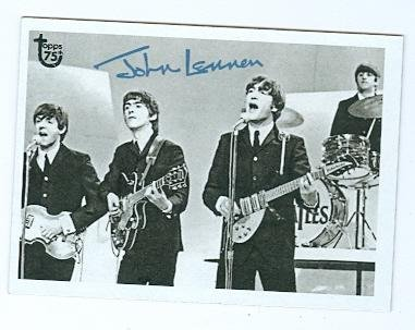 The Autographs Beatles - The Beatles trading card (Paul John Ringo George) 2013 Topps #29 75th Anniversary
