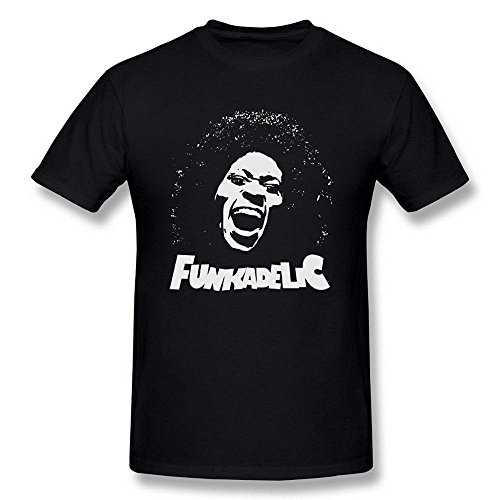 [Men's Funkadelic George Clinton Logo Black T Shirt by Maven] (Halloween Ideas For Couples)