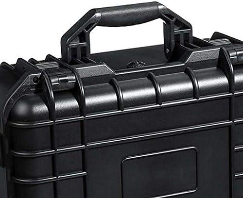 ツールボックス 工具ボックス 取っ手付き 工具箱 防水 気密性 耐衝撃 スポンジ付き ブラック - B