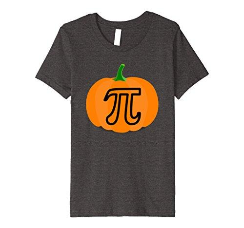 Kids Punny Pumpkin Pi T-Shirt Celebrate Halloween Quick Costume 10 Dark Heather