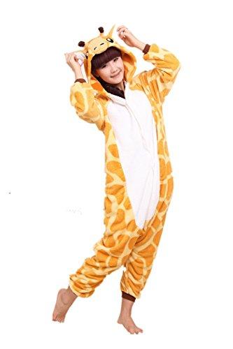 Lifeye Giraffe Unisex Adult Pajamas Animal Cosplay Costume Medium (Exotic Animals Costume)