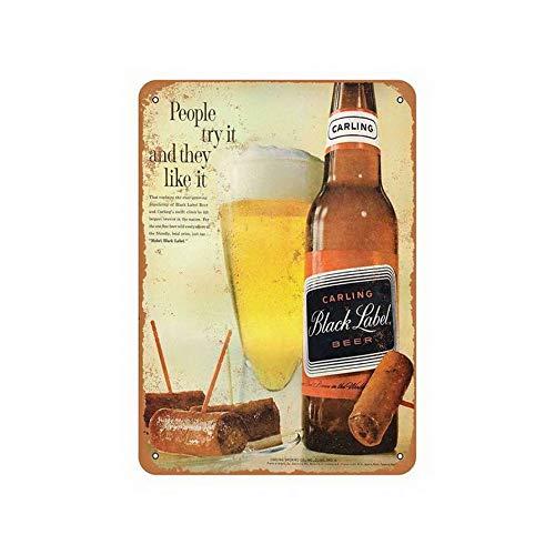 TYmall Carling Black Label Beer Metal Nostalgic Signs 12X16 Inches Carling Black Label Beer
